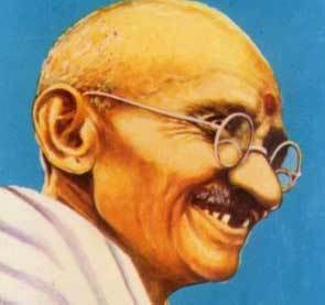 the person i admire most is mahatma gandhi